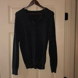 Kenneth Cole Men's SZ M Charcoal Henley Sweater